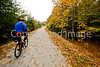 Cyclist(s) on Vermont's Missisquoi Valley Rail Trail - 2 -0405 - 72 ppi