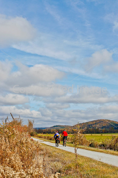 Cyclist(s) on Vermont's Missisquoi Valley Rail Trail - 3 -0034 - 72 ppi