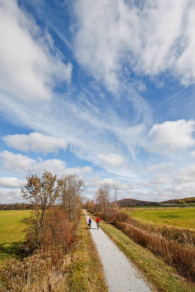 Cyclist(s) on Vermont's Missisquoi Valley Rail Trail-0128 - 72 ppi