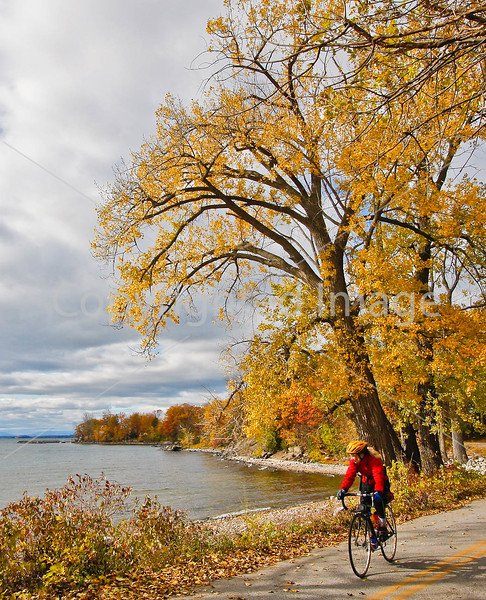 Cyclist -  Kill Kare State Park on St  Albans Bay, Vermont-C2--0164 - 72 ppi-2