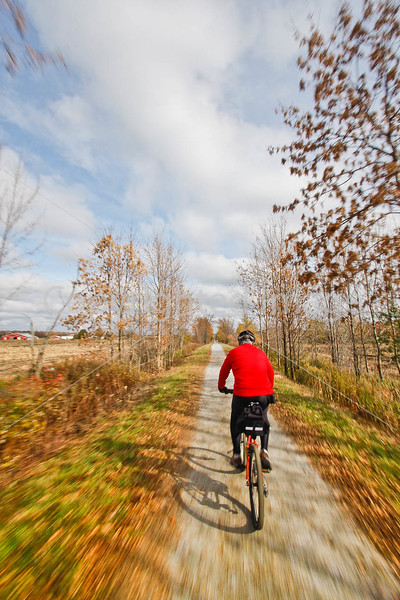 Cyclist(s) on Vermont's Missisquoi Valley Rail Trail-0102 - 72 ppi