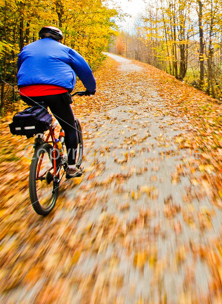 Cyclist(s) on Vermont's Missisquoi Valley Rail Trail - 2 -0427 - 72 ppi-3