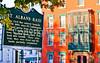 Civil War Raid sign in downtown St  Albans, Vermont-C3--0006 -72 ppi
