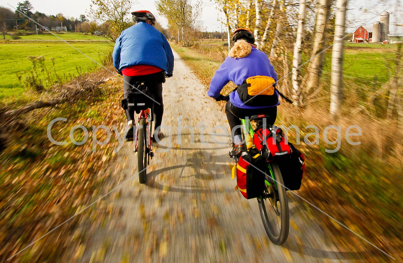 Cyclist(s) on Vermont's Missisquoi Valley Rail Trail - 2 - - 72 ppi