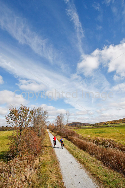 Cyclist(s) on Vermont's Missisquoi Valley Rail Trail- - 72 ppi-9
