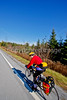 Biker nearing Frelighsburg, Canada, on ride from East Franklin, Vermont-C2--0071 - 72 ppi