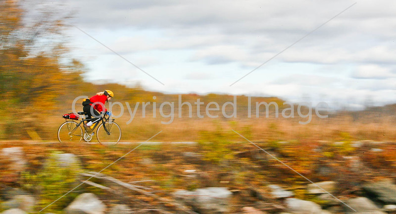 Cyclist at St  Albans Bay State Park, Vermont-0036 - 72 ppi