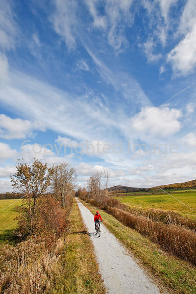 Cyclist(s) on Vermont's Missisquoi Valley Rail Trail- - 72 ppi-6