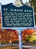 Civil War Raid sign in downtown St  Albans, Vermont-C2-- - 72 ppi