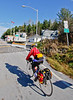 Biker closing in on Vermont-Canadian border south of Frelighsburg, Quebec-C2--0046 - 72 ppi