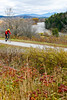 Biker on Confederate bank robbers' trail north of Enosburg Falls, VT-C3--0065 - 72 ppi
