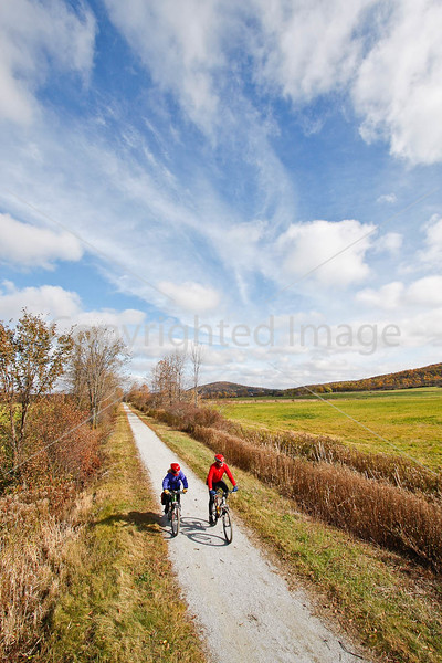 Cyclist(s) on Vermont's Missisquoi Valley Rail Trail- - 72 ppi-5