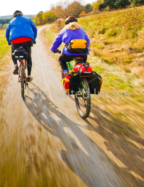 Cyclist(s) on Vermont's Missisquoi Valley Rail Trail - 2 -0306 - 72 ppi