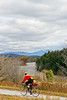 Biker on Confederate bank robbers' trail north of Enosburg Falls, VT-C3--0062 - 72 ppi