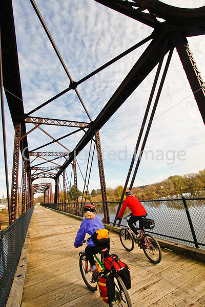 Cyclist(s) on Vermont's Missisquoi Valley Rail Trail - 2 -0268 - 72 ppi