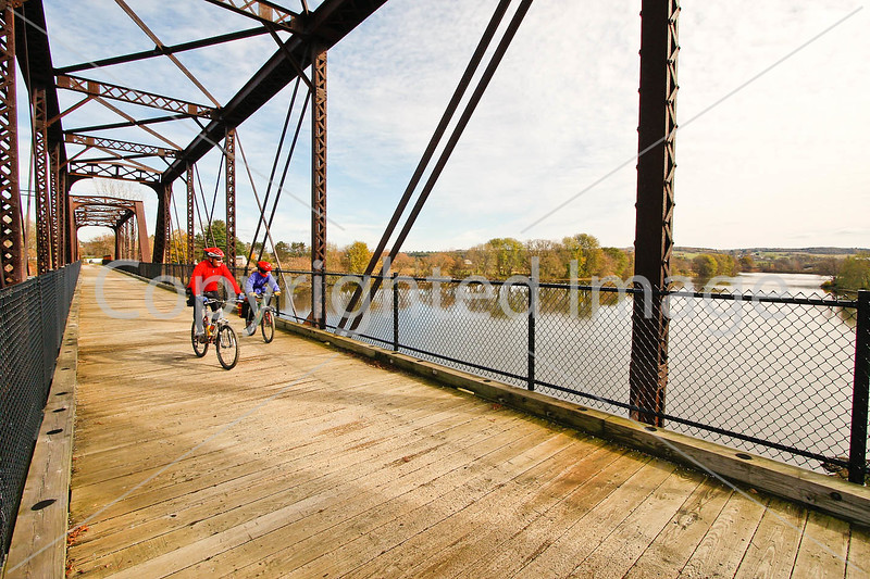 Cyclist(s) on Vermont's Missisquoi Valley Rail Trail - 2 -0259 - 72 ppi