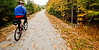 Cyclist(s) on Vermont's Missisquoi Valley Rail Trail - 2 -0405 - 72 ppi-2