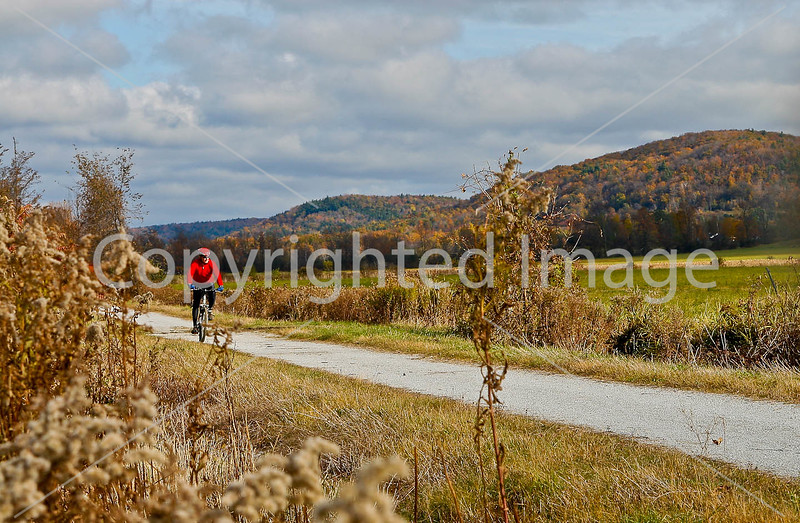 Cyclist(s) on Vermont's Missisquoi Valley Rail Trail - 3 -0022 - 72 ppi