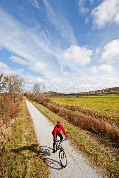 Cyclist(s) on Vermont's Missisquoi Valley Rail Trail-0154 - 72 ppi