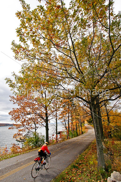Cyclist -  Kill Kare State Park on St  Albans Bay, Vermont-C2--0212 - 72 ppi