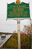 Historical sign along Hwy 105 in Vermont - route of Fenians -0028 - 72 ppi