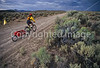 Tourer preparing for rain on Great Divide Trail near South Pass, Wyoming - 14 - 72 ppi
