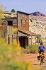 Mountain biker; Old West Paria movie set in Utah -37 - 72 ppi