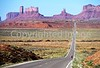 Cyclist on way to Monument Valley Navajo Tribal Park on Utah/Arizona border - B ut mv 2