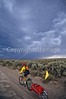 Tourer preparing for rain on Great Divide Trail near South Pass, Wyoming - 15 - 72 ppi