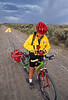 Tourer preparing for rain on Great Divide Trail near South Pass, Wyoming - 16 - 72 ppi