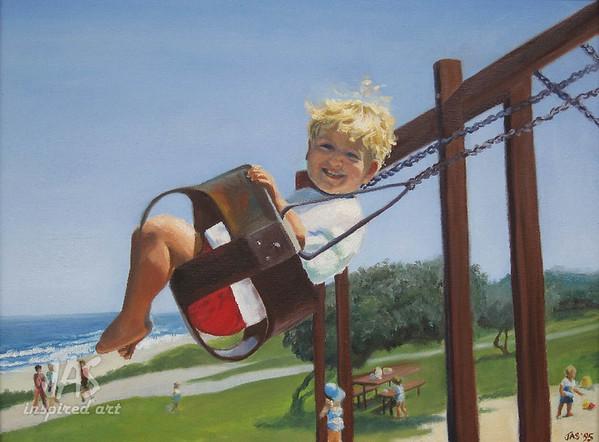 Casey Swinging