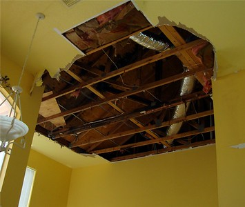 Ceiling Repair Before
