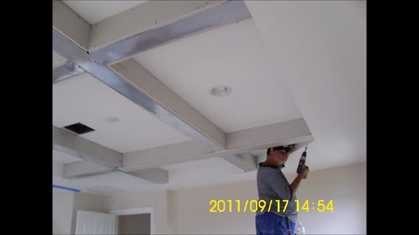 Coffered Ceiling Job
