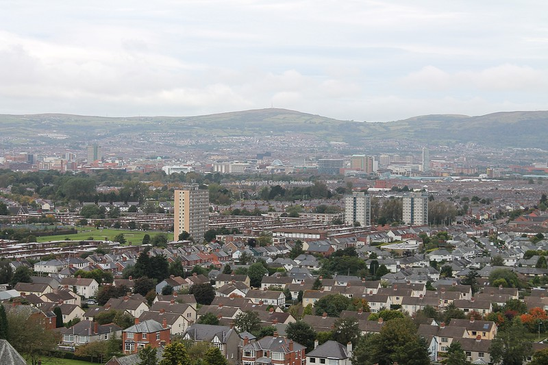 27.9.12. View of East Belfast .Photo taken from the Cregagh Hills Belfast.
