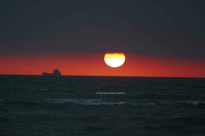 17.11.18. Sunrise  over Dublin Bay , photo taken from South Wall Dublin.