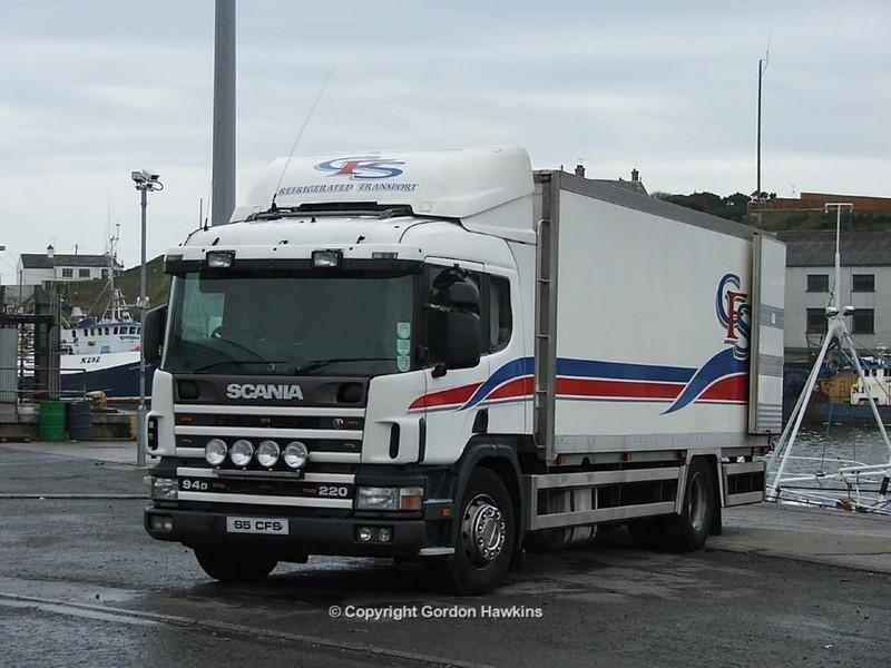 11.12.05 Lorries Parked up at Kilkeel Harbour Co.Down