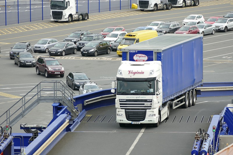 28.8.18. Lorries at the Stenaline Port of Cairnryan Scotland.