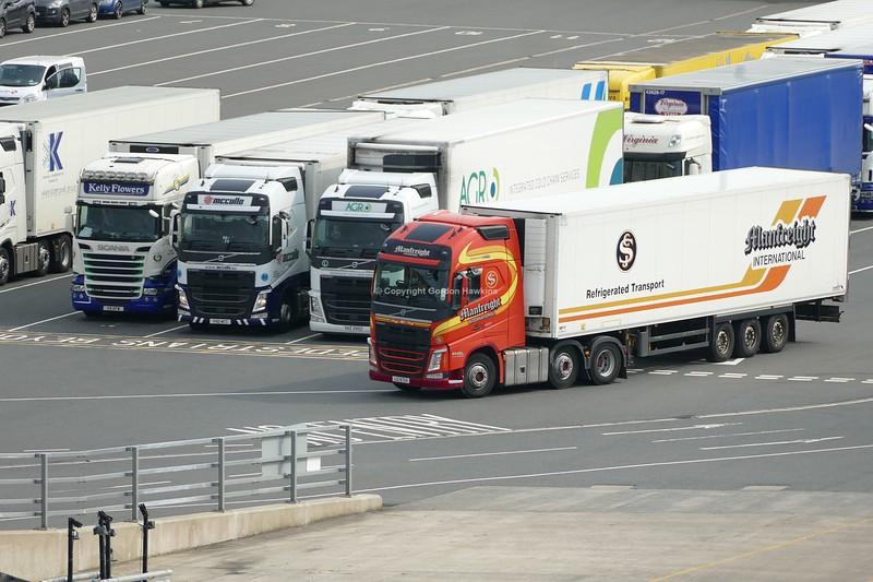 28.8.18. Lorries at the Stenaline Port of Cairnryan Scotland.