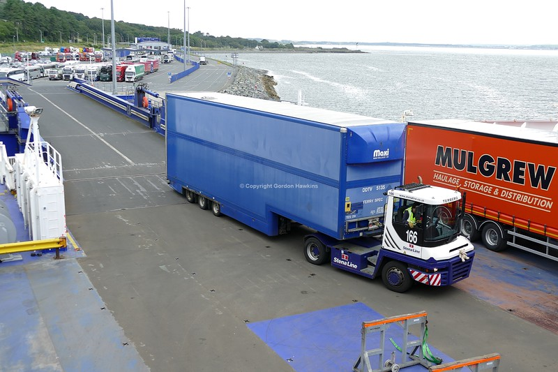 13.8.19. Lorries at Stena line Port of Cairnryan Scotland.