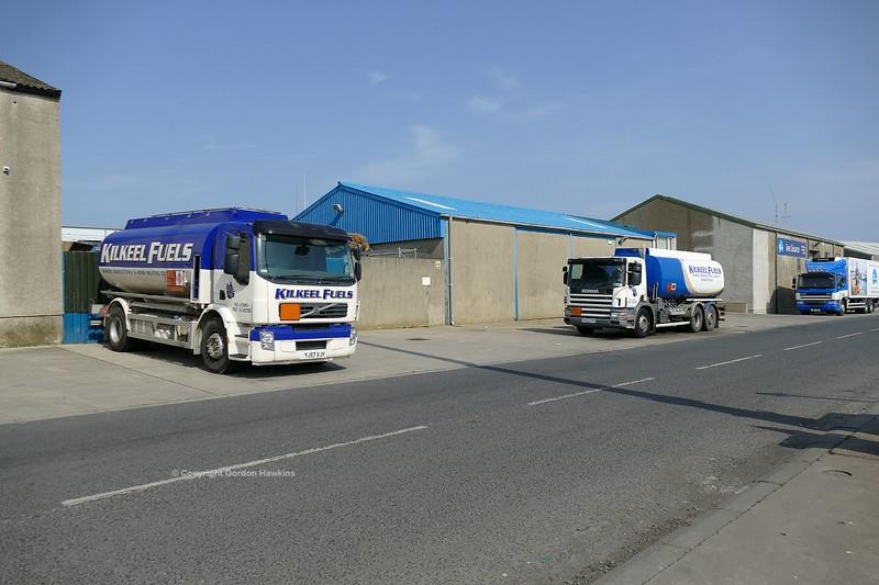 22.4.19. Lorries at Kilkeel Harbour Co.Down.