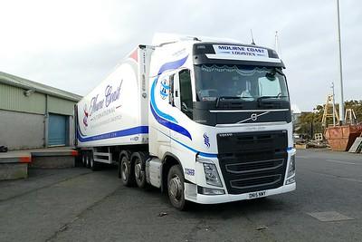 16.2.19. Lorries at Kilkeel Harbour Co.Down.
