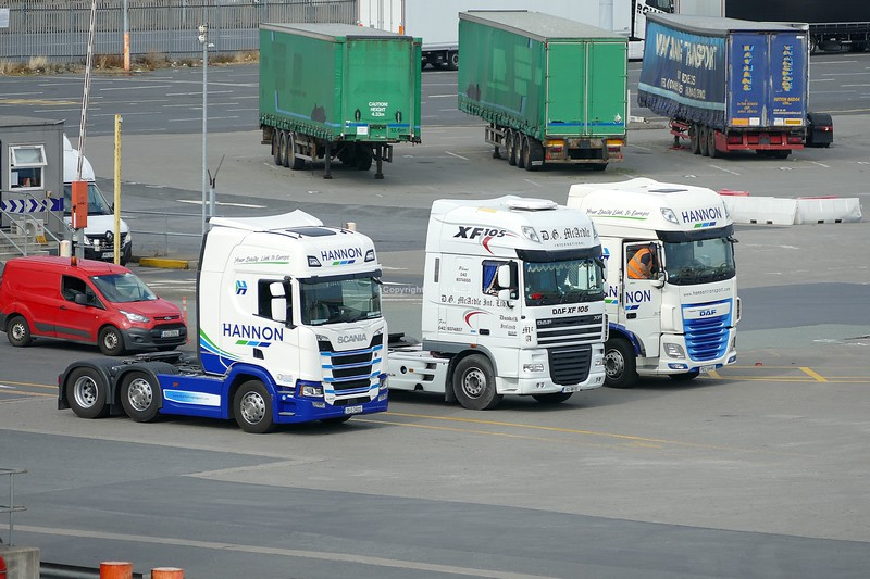 31.7.19. Lorries at the Port of Dublin.