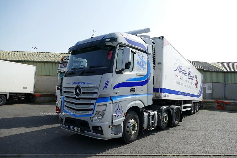 28.6.19. Lorries at Kilkeel Harbour Co.Down.