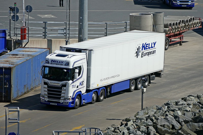 6.6.19. Lorries at the Stenaline Terminal at the Port of Cairnryan Scotland.