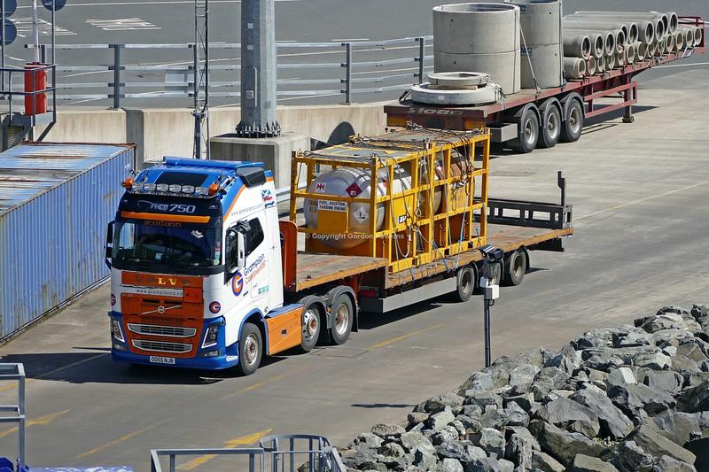6.6.19. Lorries at the Stenaline Terminal at the Port of Cairnryan Scotland.
