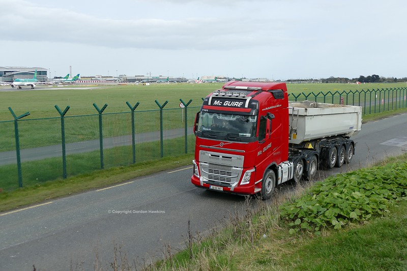 23.3.19. Lorries on the Old Airport Road Dublin.