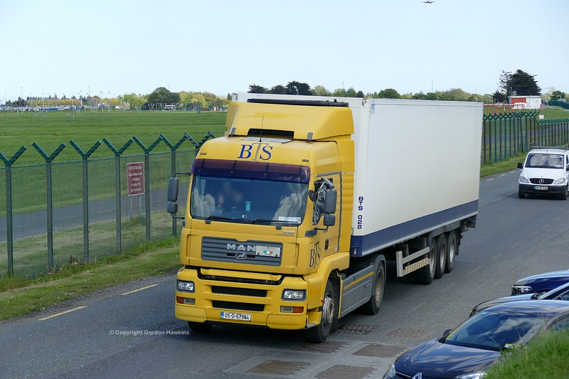 11.5.19. Lorries on the Old Airport Road Dublin.