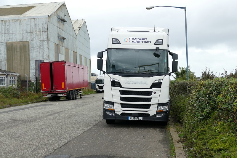 9.9.19. Lorries at the Port of Belfast.