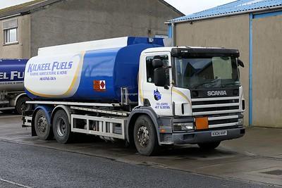 8.3.20 Lorries Parked up at Kilkeel Harbour Co.Down