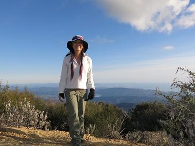 2015 (Jan 13) NEW!  Divide Peak (4,707') from  Murietta Canyon, Ojai
